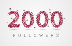 2000 twee duizend aanhangers De vogels van de origami Vector royalty-vrije illustratie