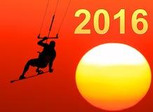 Twee duizend zestien Nieuw jaar Royalty-vrije Stock Afbeelding