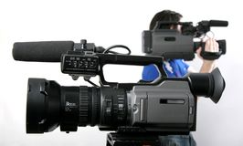 Twee dv-camcorders Stock Afbeeldingen