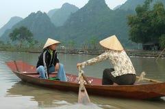 Twee in een boot Stock Foto
