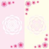 Twee eenvoudige kaarten Stock Afbeeldingen