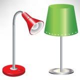 Twee eenvoudige lampen Stock Foto