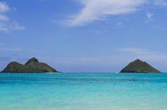 Twee eilanden Kailua HALLO Royalty-vrije Stock Foto's