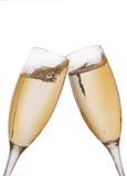 Twee elegante champagneglazen Royalty-vrije Stock Foto