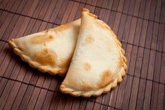 Twee empanadas. Stock Afbeeldingen