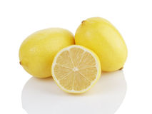 Twee en een half citroenen Stock Afbeeldingen