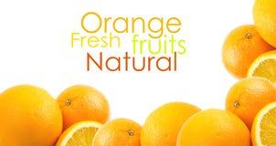 Twee en halve sinaasappelen Royalty-vrije Stock Afbeelding