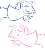 Twee engelen stock illustratie