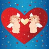 Twee engelen. vector illustratie
