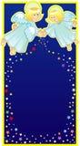 Twee engelen die asterisken uitstrooien royalty-vrije illustratie