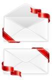 Twee enveloppen met lint Stock Afbeelding