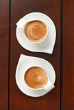 Twee espresso's Stock Foto's