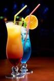 Twee exotische cocktails Royalty-vrije Stock Foto