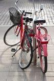 Twee fietsen Stock Afbeeldingen