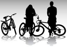 Twee fietsers op rust stock illustratie