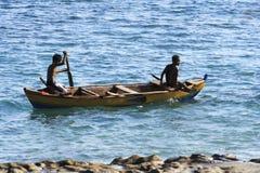 Twee fishermans (Lamalera, Indonesië) Royalty-vrije Stock Fotografie