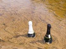 Twee flessen royalty-vrije stock fotografie