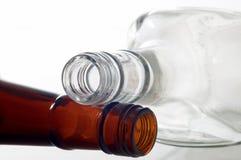 Twee flessen Stock Fotografie