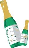 Twee Flessen van Champagne Royalty-vrije Illustratie