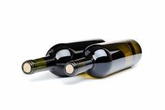 Twee flessen wijn Stock Afbeelding