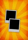 Twee fotoframes royalty-vrije illustratie