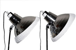 Twee fotolampen Royalty-vrije Stock Afbeeldingen