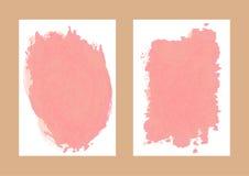 Twee geïsoleerde document achtergrond met waterverfvlekken vector illustratie