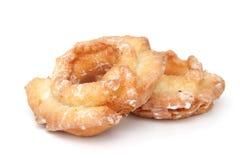 Twee geïsoleerde donuts Stock Foto