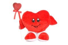Twee geïsoleerde harten van de Valentijnskaart Stock Fotografie