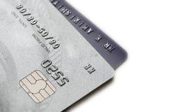 Twee geïsoleerdel creditcards Stock Afbeelding