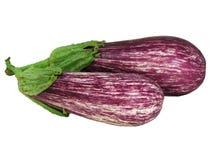 Twee geïsoleerdem aubergines Royalty-vrije Stock Foto