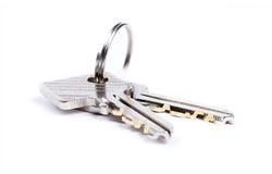 Twee geïsoleerden sleutels Royalty-vrije Stock Afbeeldingen