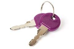 Twee geïsoleerdet sleutels Stock Afbeeldingen