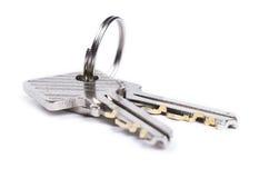 Twee geïsoleerdet sleutels Stock Foto