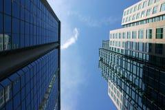 Twee gebouwen Stock Foto's