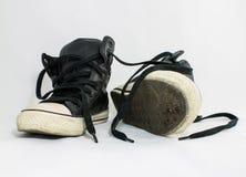 Gebruikte schoenen Royalty-vrije Stock Afbeeldingen