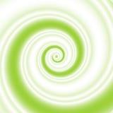Twee-gekleurde groene en witte spiraalvormige golf royalty-vrije illustratie