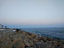 Twee geliefde gies de zonsondergang stock afbeeldingen