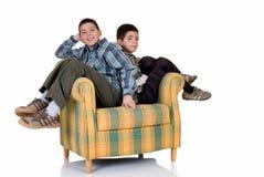 Twee gelukkige broers Stock Foto
