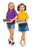 Twee gelukkige knappe meisjes Royalty-vrije Stock Afbeeldingen