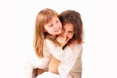 Twee gelukkige meisjes samen Stock Foto's