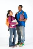 Twee Gelukkige Studenten - Verticaal Stock Fotografie