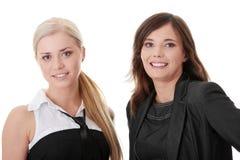 Twee gelukkige vrouwen Royalty-vrije Stock Foto
