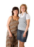 Twee gelukkige vrouwen stock fotografie