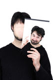 Twee gemotiveerde gezichten Stock Foto's