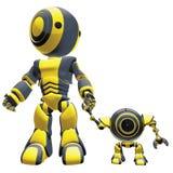 Twee generatierobots royalty-vrije illustratie