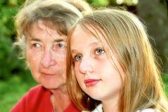 Twee generaties royalty-vrije stock fotografie