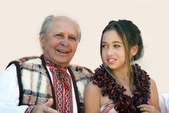Twee generaties Stock Fotografie