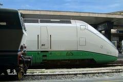 Twee generaties van treinen royalty-vrije stock fotografie