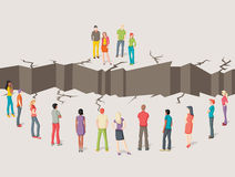 Twee gescheiden groepen mensen stock illustratie